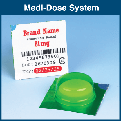 Medi-Dose Unit Dose Packaging