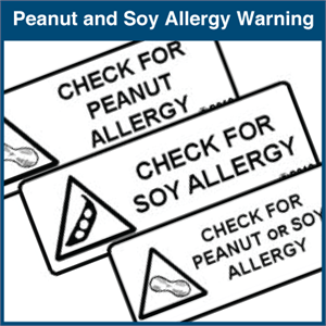 Peanut and Soy Allergy Warning