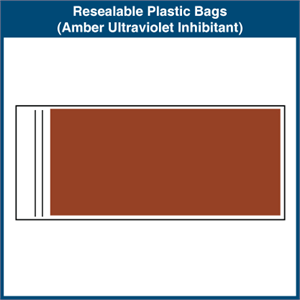 Resealable Plastic Bags (Amber Ultraviolet Inhibitant)