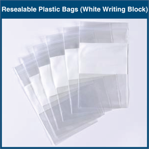 Resealable Plastic Bags (White Writing Block)