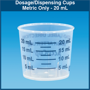 Metric Only Dosage Dispensing Cups 20 Ml 1 000