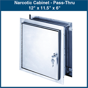 Narcotic Cabinet Pass Thru 12 Quot X 11 5 Quot X 6 Quot 1 Cabinet