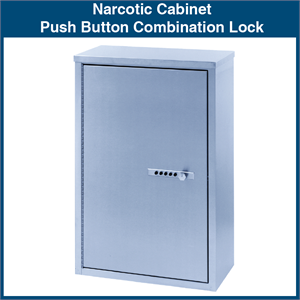 Narcotic Cabinet Push Button Combination Lock 1 Cabinet