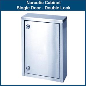 Narcotic Cabinet Single Door Double Lock