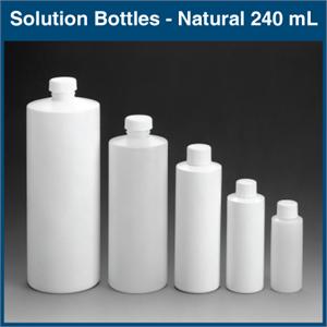 Solution Bottles 240 Ml 8 Oz Natural 72 Bottles