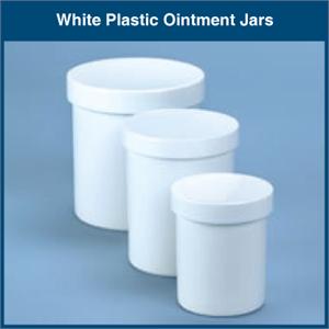 White Plastic Ointment Jars
