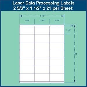 laser data processing labels 2 5 6 x 1 1 2 x 21 per sheet 1 000