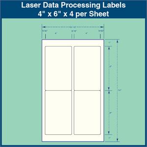 laser data processing labels 4 1 4 x 6 1 2 x 4 per sheet 1 000