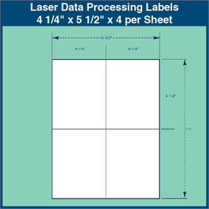 laser data processing labels 4 1 4 x 5 1 2 x 4 per sheet 1 000