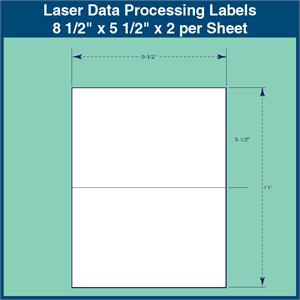 laser data processing labels 8 1 2 x 5 1 2 x 2 per sheet 1 000
