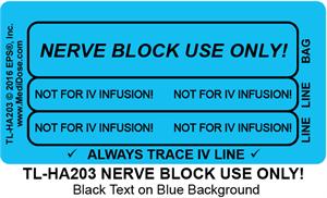 Line Tracing Label - NERVE BLOCK USE ONLY - TL-HA203 (1,000 Labels)