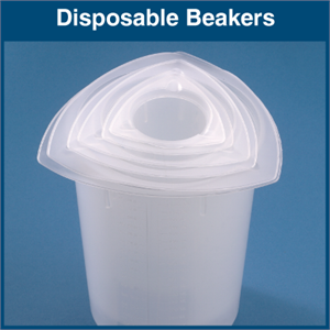 Tri-Sided Plastic Disposable Beakers