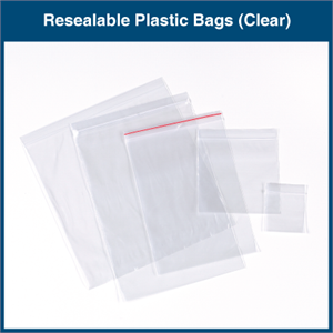 Resealable Plastic Bags (Clear)