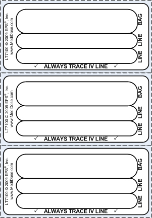 Customizable Line Tracing Label - Direct Thermal (1,000