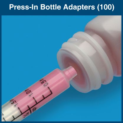 Press-In Bottle Adapters (100 Adapters)